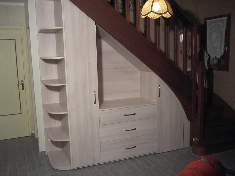 Eric regnier ebenisterie vos meubles sur mesure - Meuble de rangement sous escalier ...