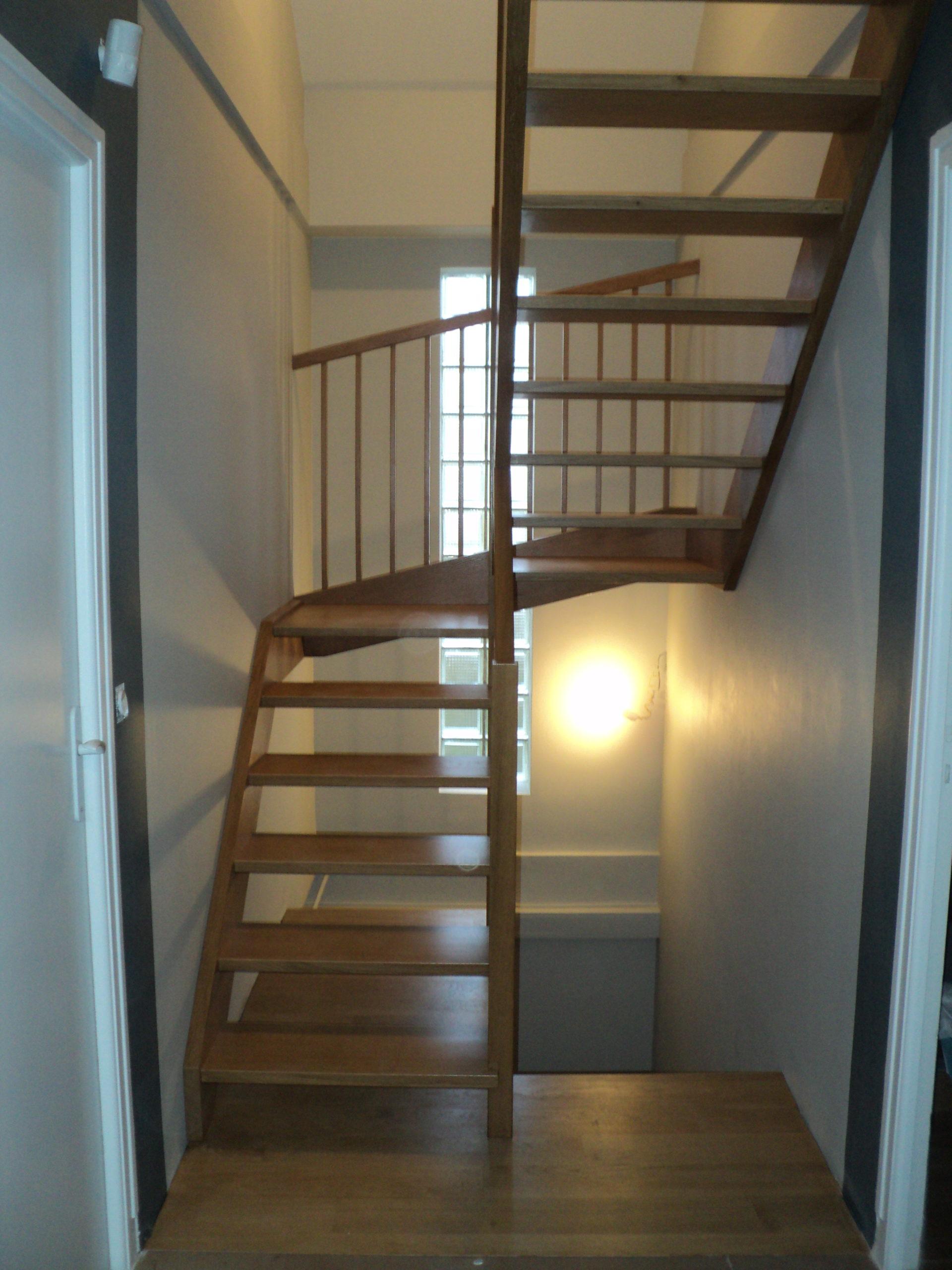 Escalier en chêne Eric Régnier Ebenisterie